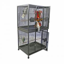 Weston Double Stack Bird Cage Platinum,