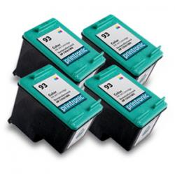4 Pack for Compatible HP 93(C9361WN)Color Ink Cartridge